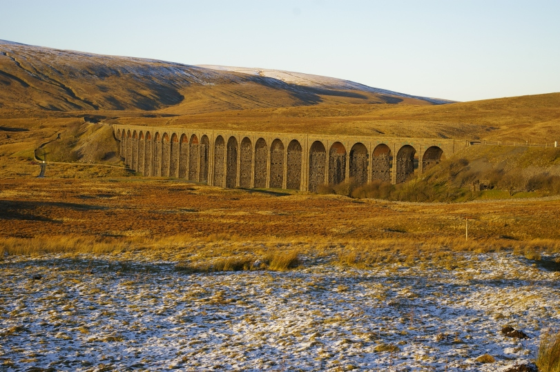 Ribblehead Viaduct with Whernside from Ingleton Road